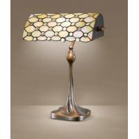 Perenz T974 L Lampada Da Tavolo Paralume Tiffany Base Quadrata