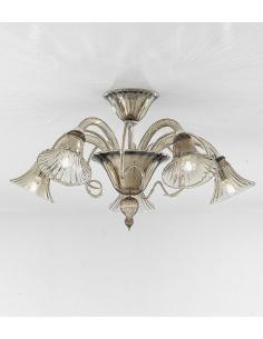 Sylcom 1420/5 K WAS Venier Suspension Lamp ø72 Smoky