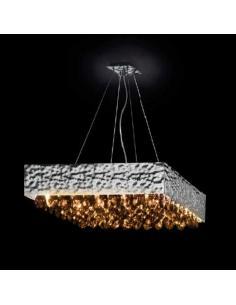 MAGMA, pendant Lamp, crystal amber