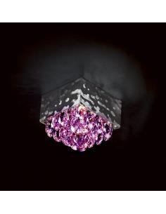 MAGMA Punto luce cristalli ametista