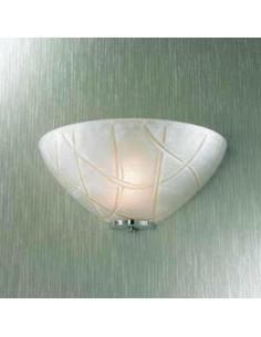 Applique a vaschetta con righe bianche particolari cromo