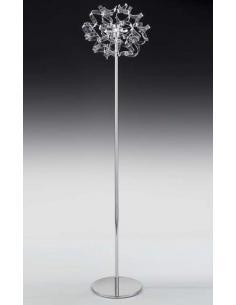 ASTRO FLOOR LAMP 3L 40W, CHROME/TURQUOISE