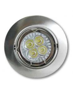 Recessed spotlight adjustable white finish
