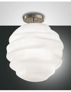 AVA ceiling lamp, ceiling light in glass D50cm