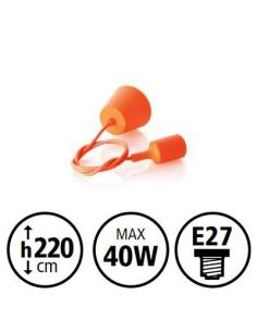 RUBBER SUSPENSION COLOR ORANGE H100 40W E27