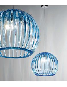 Suspension acrylic light blue transparent