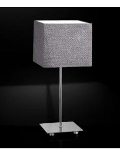 Table lamp polished chrome with fabric shade