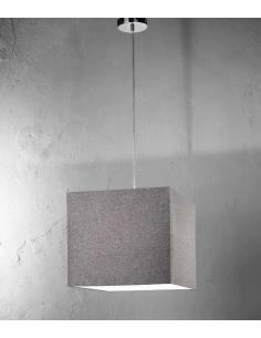 Suspension polished chrome with fabric shade