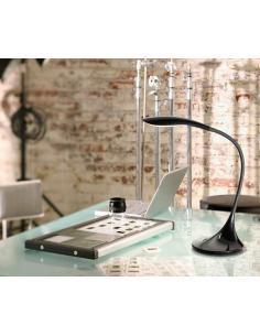 Lampada da tavolo flex in plastica colore nero LED
