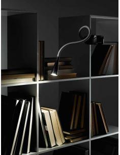 Lampada da tavolo flex in plastica e metallo colore nero con pinza