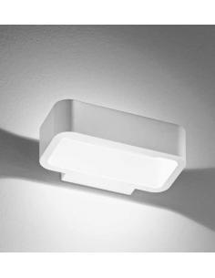Applique alluminio per esterni/interni colore bianco LED