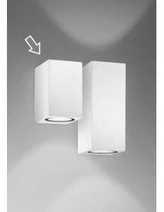 Applique alluminio per l'esterno bianco LED integrato