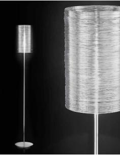 Floor lamp chrome polished in acriclico transparent