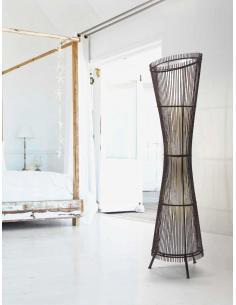 Floor lamp in wood
