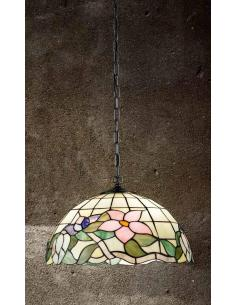 Suspension lamp Tiffany chain