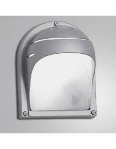 Applique, aluminum exterior, grey in colour with glass diffuser