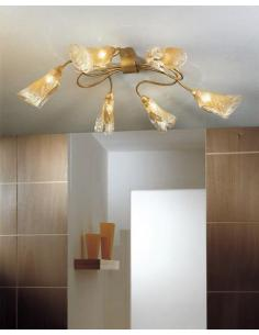 EXA ceiling light antique gold 6 lights