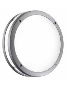Applique alluminio per esterni colore grafite con diffusore in acrilico