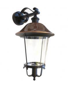 Applique up the outside black hat copper antique