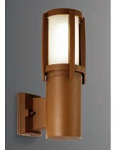 Applique glass and aluminium rust color