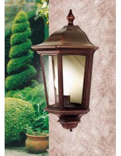 Wall lamp black/copper diffuser smoked