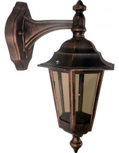 Lantern small wall outdoor black/copper