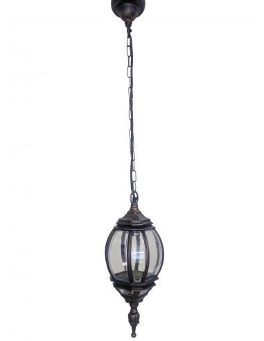 Lampada per esterni D17cm Nero/Ramato