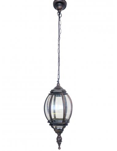 Lampada per esterni D20cm Nero/Ramato