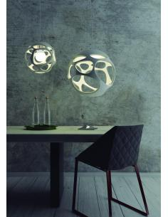 Mantra 4825 Triangle Chandelier pendant In Concrete