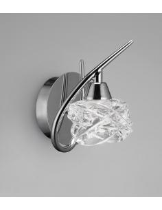 Mantra 3948 Maremagnum Wall Lamp, Chrome with Crystal