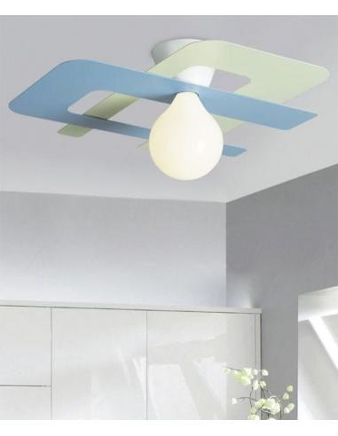 Gibas 181/75 C51 C52 Lampada da Soffitto Colore Verde e Azzurro