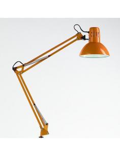Perenz 4025 AR Lampada Da Tavolo Orientabile In Metallo Arancio