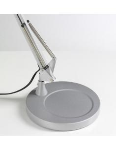 Perenz 4025 Z-Base for Table Lamp In Silver Metal