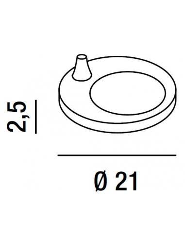 Perenz 4025 Z B Base Per Lampada Tavolo In Metallo Bianco