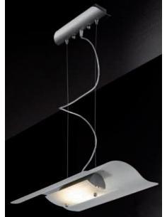 Perenz 4322 Chandelier Suspension Halogen Satin-Finish Glass