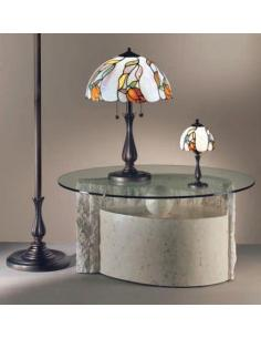 Perenz 560 Table In Coated Wood With Clear Stone