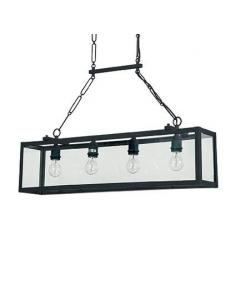 Ideal Lux 092942 Igor Chandelier pendant 4 Lights Black