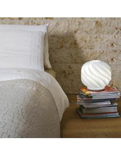 Linea Zero GL/LAP/35/W Globe Lampada da Tavolo Bianca D35