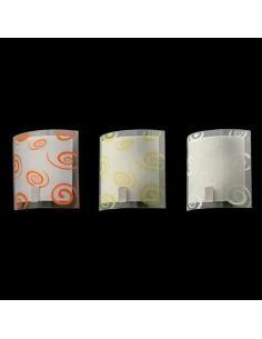 LORA 405/A Lampada da Parete con Vetro Trasparente e Bianco