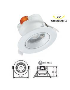 Lampo Lighting SYDOR7WBN Sydor Faretto Incasso Orientabile LED