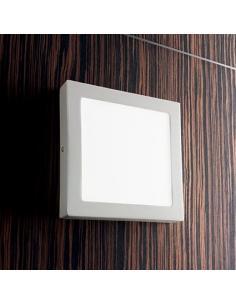 Ideal Lux 138657 Universal Ceiling Applique Quadra 24W White