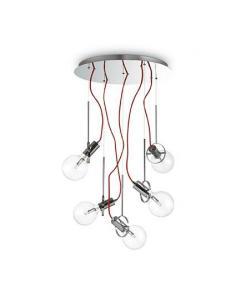 Ideal Lux 141145 Radio SG5 Cromo Lampada a Sospensione 5 Luci