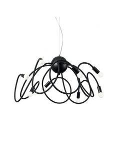 Ideal Lux 141916 Multiflex SP8 Lampada a Sospensione Nera