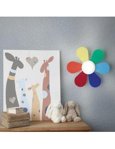Ideal Lux 141329 Flower AP1 D30 Lampada da Parete per Camerette