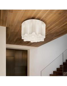 Ideal Lux 125503 Compo PL6 Lampada da Soffitto Plafoniera Vetro