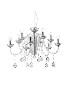Ideal Lux 113678 Doge SP6 Chandelier pendant with White Glass