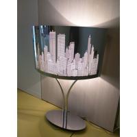 Pan TAV582 Columbus Lampada Da Tavolo Metallo Decorata Alluminio