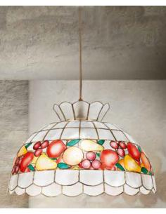 Perenz H5504 Suspension Lamp mother-of-Pearl and Pendel Gold