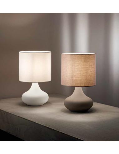 Perenz 6504 b lampada da tavolo lumetto in metallo bianco for Lampade tavolo moderne