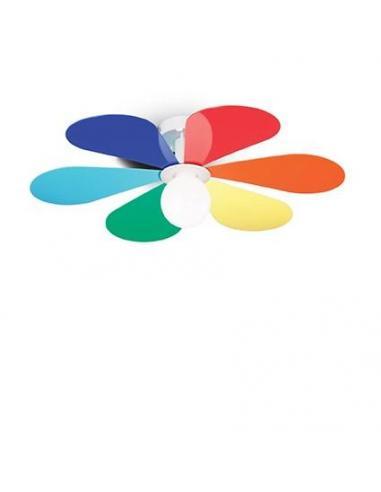 Ideal Lux 141336 FLOWER PL1 D50 Lampada da soffitto fiore colorato